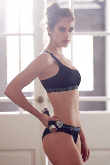 Сутиен за спорт. фитнес и тренировка без банели, цвят черно Lisca Cheek Powerful AW 2020