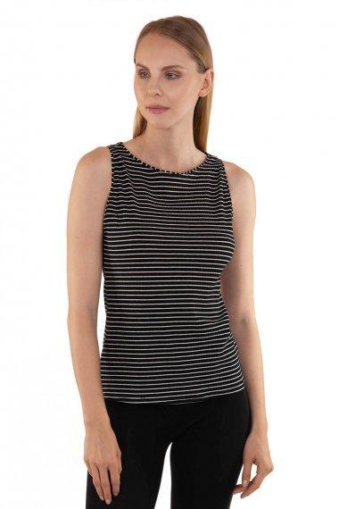 Удобна памучна блуза с без ръкави на райе Lisca Cheek Romance SS2020