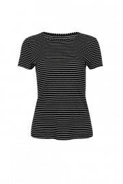 Удобна памучна блуза с къси ръкави на райе Lisca Cheek Romance SS2020 Лиска Lisca Cheek от www.liscashop.bg