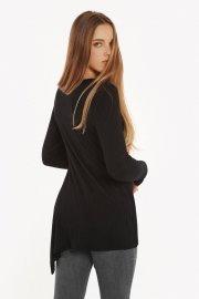 Асиметрична туника с дълги ръкави в черно или сиво Lisca Cheek Cosy AW2021 Лиска Lisca Cheek от www.liscashop.bg