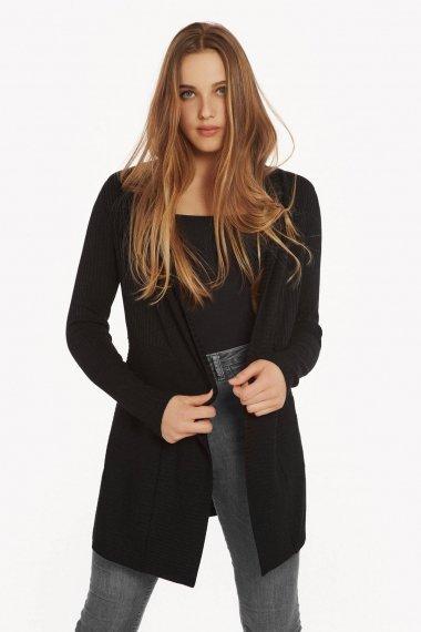 Жилетка с дълги ръкави в черно или сиво Lisca Cheek Cosy AW2021