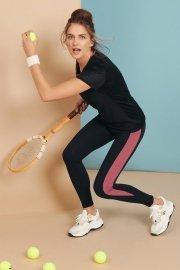 Дамскa спортна блуза с къс ръкав  за фитнес и спорт в черно Lisca Cheek Playful AW 2021 Лиска Lisca Cheek от www.liscashop.bg