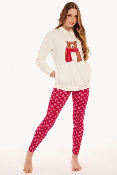 Памучна пижама с дълги ръкави и дълъг клин Lisca Cheek Wonderland AW2021