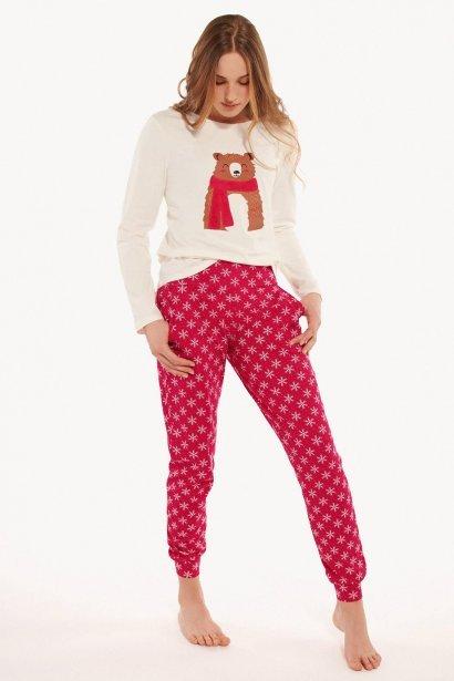 Памучна пижама с дълги ръкави и дълги панталони Lisca Cheek Wonderland AW2021