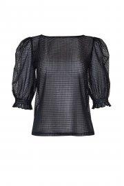 Модерна блуза с ширики 3/4 ръкави с кариран десен и кръгло деколте Lisca Cheek Limitless SS2021 Лиска Lisca Cheek от www.liscashop.bg