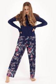 Дамска пижама с дълги панталонки и топ с дълги ръкави на цветя Lisca Fashion Harper SS2021 Лиска Fashion от www.liscashop.bg
