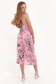 Елегантна нощница с тънки презрамки на цветя Lisca Fashion Harper SS2021 Лиска Fashion от www.liscashop.bg