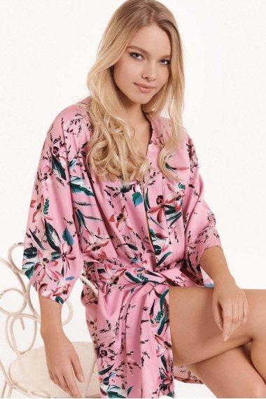 Луксозен сатенен халат с дълги ръкави Lisca Fashion Harper SS2021