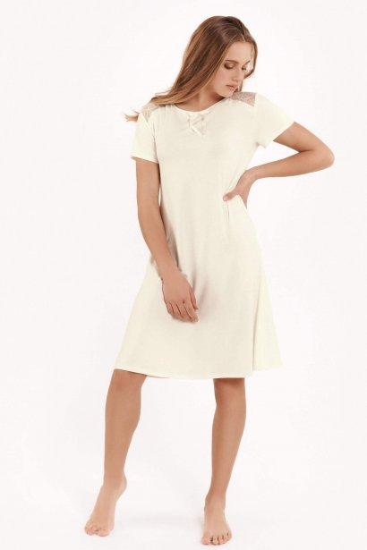 Къса дамска нощница с къси ръкави Lisca Fashion Harvest SS2021