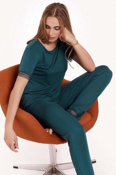 Дамски комплект пижама с къс ръкав и дълги панталони  Lisca Fashion Helen SS2021