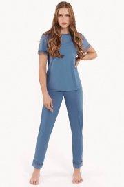 Дамски комплект пижама с къс ръкав и дълги панталони  Lisca Fashion Helen SS2021 Лиска Fashion от www.liscashop.bg