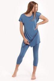 Женствена пижама с туника къси ръкави и клин Lisca Fashion Helen SS2021 Лиска Fashion от www.liscashop.bg