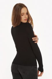 Дамско черно поло с дълги ръкави Lisca Isa AW2021 Лиска Fashion от www.liscashop.bg