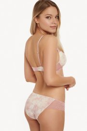 Романтични класически бикини в бяло на розови цветя Lisca Isabelle AW2021 Лиска Fashion от www.liscashop.bg