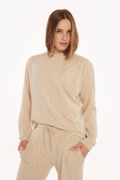Удобен пуловер с дълъг ръкав Lisca Fashion Isadora KP - бежово AW2021