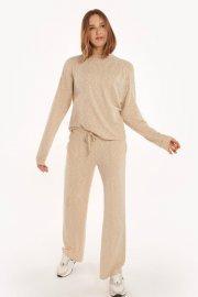Удобен пуловер с дълъг ръкав Lisca Fashion Isadora KP - бежово AW2021 Лиска Fashion от www.liscashop.bg