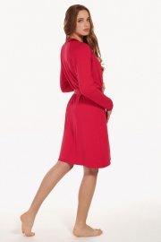 Халат с дълги ръкави в синьо и червено Lisca Evelyn AW2021 Лиска Fashion от www.liscashop.bg