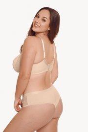 Елегантни бикини бразилиани с дантели в тъмно сиво или телесно Lisca Fashion Ivonne Лиска Fashion от www.liscashop.bg
