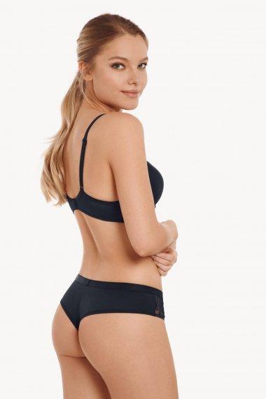 Елегантни бикини бразилиани с дантели в тъмно сиво или телесно Lisca Fashion Ivonne
