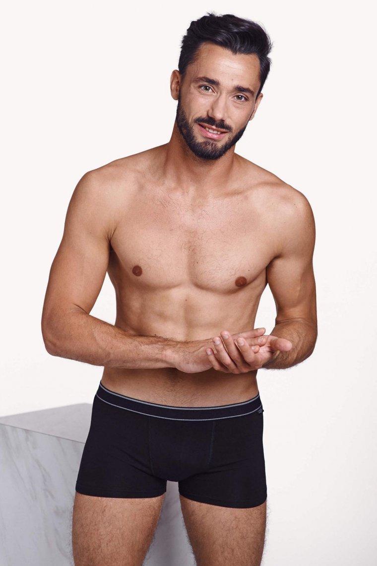Комплект от 2 броя мъжки памучни боксери в бяло или черно Lisca Lisca Apolon Men Лиска Men от www.liscashop.bg
