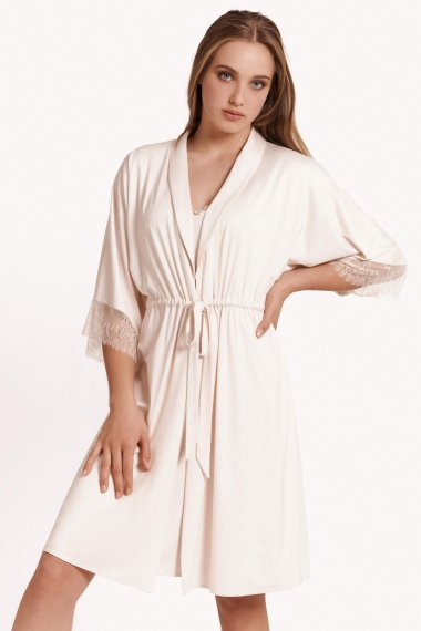 Елегантен домашен халат с 3/4 ръкави Lisca Selection Rose SS2021