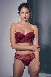 Съблазнителни бикини бразилиани с бродерия и тюл в червено и телесно Lisca Selection Ruby AW2021 Лиска Selection от www.liscashop.bg