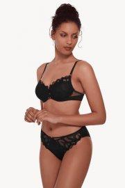 Елегантни съблазнителни бикини с тюл в черно и синьо Lisca Selection Sapphire AW2021 Лиска Selection от www.liscashop.bg