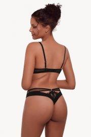 Луксозни бикини High-leg и тюл в черно и синьо Lisca Selection Sapphire AW2021 Лиска Selection от www.liscashop.bg