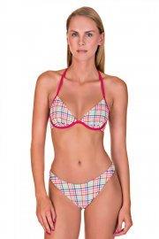 Плажни бански бикини с визия за по дълги крака Cheek by Lisca Retro Vichy 2019 Лиска Lisca Cheek SW от www.liscashop.bg