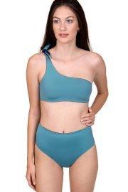 Двулицев асиметричен бански сутиен с една презрамка в синьо и кафяво Lisca Cheek Kea 2021 Лиска Lisca Cheek SW от www.liscashop.bg