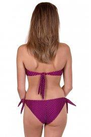 Двулицеви бански бикини бразилиани с връзки на точки в синьо или розово Lisca Cheek Linosa 2020 Лиска Lisca Cheek SW от www.liscashop.bg