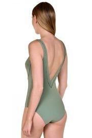 Коригиращ цял бански костюм с оформени чашки без банели в зелено или черно Lisca Fashion Ancona 2021 Лиска Fashion SW от www.liscashop.bg