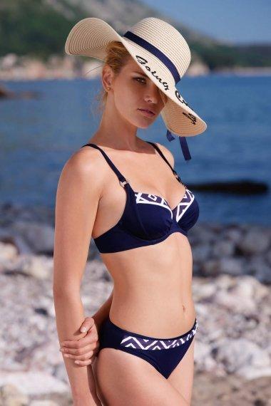 Бански костюм с меки чашки и банели в син цвят Lisca Costa Rica 2020