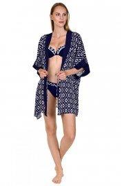 Модерна плажна роба в син цвят Lisca Costa Rica 2020 Лиска Fashion SW от www.liscashop.bg