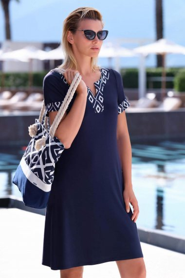 Модерна плажна рокля в син цвят Lisca Costa Rica 2020