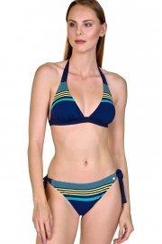 Модни спортни бански бикини с връзки, розови и сини с райе Lisca Fashion Dominica 2020 Лиска Fashion SW от www.liscashop.bg