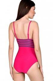 Женствен цял бански костюм със спортен щрих райе Lisca Fashion Dominica 2020 Лиска Fashion SW от www.liscashop.bg