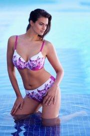 Съблазнителен бански горнище с оформени чашки с флораен мотив в синьо или розово Lisca Egina 2020 Лиска Fashion SW от www.liscashop.bg