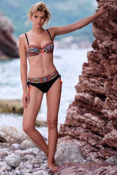 Модерни бански бикини с регулиране на височината краката с етно мотиви Lisca Fashion Haiti 2020