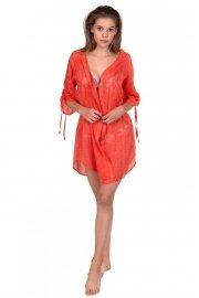 Памучна плажнна блуза с 3/4 ръкави и връзки Lisca Jamaica 2020 Лиска Fashion SW от www.liscashop.bg