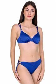 Модерен бански сутиен с меки чашки и банели е подходящ за по-големи гърди в два цвята тъмносин и черен Lisca Selection Navarre Beach 2020 Лиска Selection SW от www.liscashop.bg