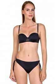 Стилен бански тип бриджитка с оформени с пяна чашки в тъмносин и черен цвят Lisca Selection Navarre Beach 2020 Лиска Selection SW от www.liscashop.bg