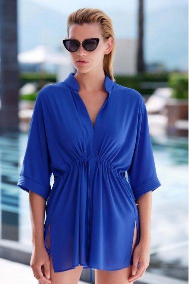Стилна плажна блуза с 3/4 ръкав в син и бял цвят Lisca Selection Navarre Beach 2020