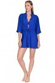 Стилна плажна блуза с 3/4 ръкав в син и бял цвят Lisca Selection Navarre Beach 2020 Лиска Selection SW от www.liscashop.bg