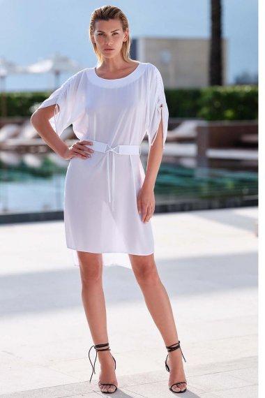 Изискана плажна рокля с връзки в син и бял цвят Lisca Selection Navarre Beach 2020