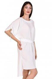 Изискана плажна рокля с връзки в син и бял цвят Lisca Selection Navarre Beach 2020 Лиска Selection SW от www.liscashop.bg