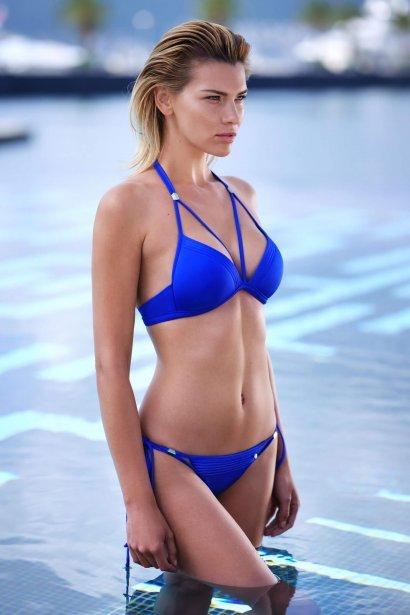 Луксозни бански бикини в два цвята тъмносин и черен Lisca Selection Navarre Beach 2020