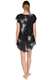 Луксозна блуза с къси ръкави в бяло и черно на палмови листа Lisca Selection Ocean City 2020 Лиска Selection SW от www.liscashop.bg