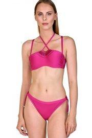 Изрязани бански бикини бразилиани с връзки в розово и черно Lisca Porto Montenegro 2021 Лиска Selection SW от www.liscashop.bg