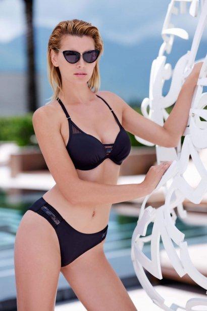 Модни бански бикини с визия за по-дълги крака в розово и черно Lisca Porto Montenegro 2021